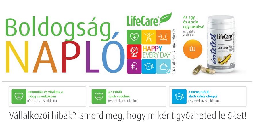 Lifecare boldogság napló 2021 október 5-től november 24-ig